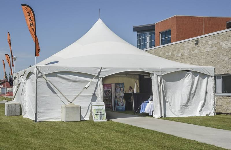 Tent Rental Of Clearspan Frame And Pole Tents