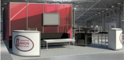 20'x20' R8 booth rendering