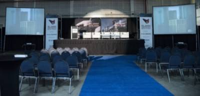 Rental stage for conferences and keynote speakers