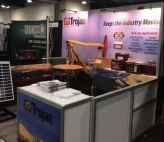 Trojan Battery exhibit at Global Petroleum Show 2017