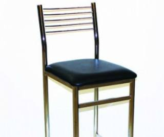 Wire back chrome stool
