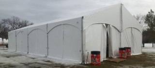 Xspan tent at Silver Skate Festival 2017