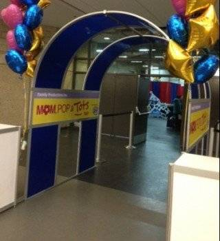 Curved archway at Edmonton Mom Pop and Tots Fair 2015
