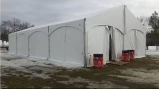 Rental Xspan tent at 2017 Silver Skate Festival