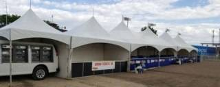 Rental frame tents at St Albert Kinsmen Rainmaker Rodeo and Exhibition