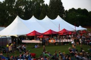Event Tent Rental 40x100 pole tent at Seven Music Fest, St. Albert