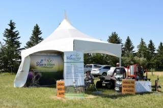 Event tent rental at agriculture show Future Farm Expo in Olds, Alberta