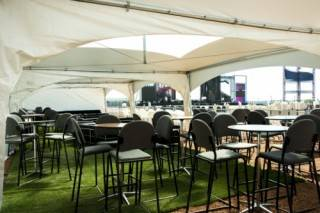 Lounges can include VIP tents at outdoor festivals