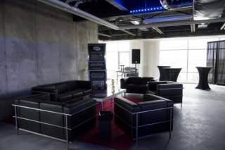 Event furniture rentals create quiet networking areas