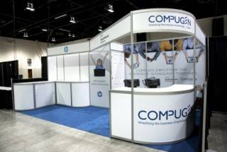 Compugen exhibit booth 8 with upgraded panels at the ATLE Convergence Conference in Calgary