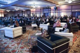 Leather Manhattan sofas & chairs for conference event rentals