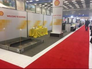 10'x30' seamless exhibit with graphics at the Fort Saskatchewan Trade Show and Sale
