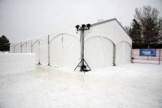 30'x75' Xspan tent at Silver Skate Festival