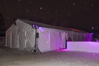 Event rental clearspan tent at Silver Skate Festival, Edmonton