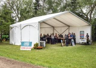 Clearspan event tent rental.