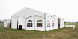 Clearspan event tent rental with window walls