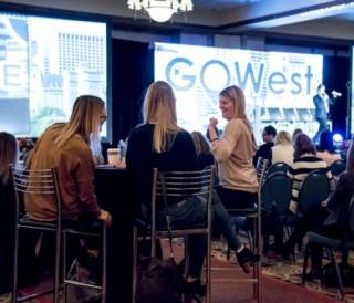 Conference Furniture rental cruiser table and stools at GoWest