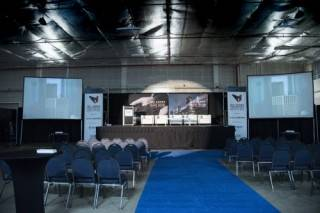 Conference and corporate events main stage Oil Sands Trade Show and Conference, Fort McMurray