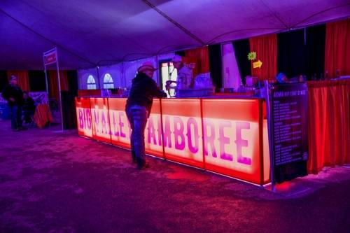Event rental custom bar with back lighting