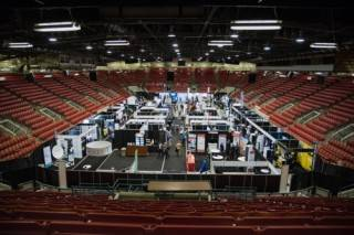 Trade show for oil and gas industry at Global Petroleum Show, Calgary