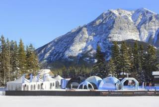 Frame tent with window walls used for sporting event athlete centre at Nakiskis World Cup