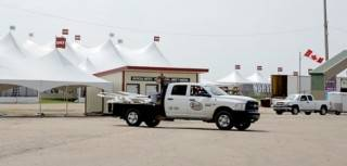 Superior Show Service trucks for cargo shipping to special event show sites