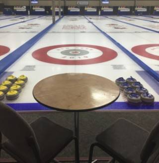 VIP seating and pipe & drape and end of sheets for 2019 Canada Winter Games Curling