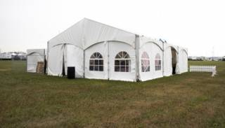Clearspan event tent rental, with window walls