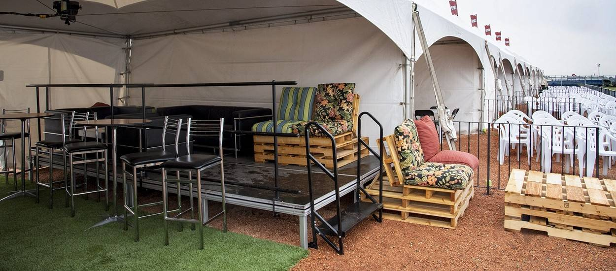 Outdoor festival furniture rentals