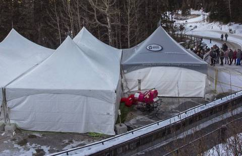 heated tent rental